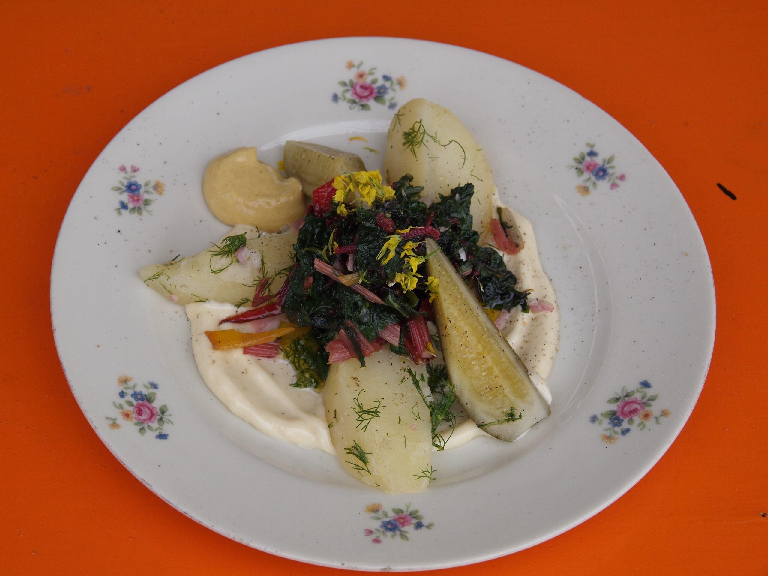 Snijbiet-aardappelsalade